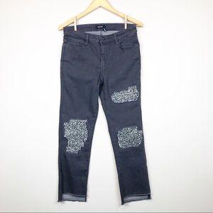 DKNY Gray Released Hem Straight Jeans Size 27 (4)